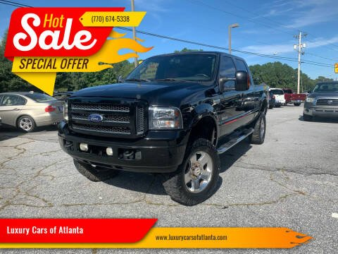 2007 Ford F-250 Super Duty for sale at Luxury Cars of Atlanta in Snellville GA