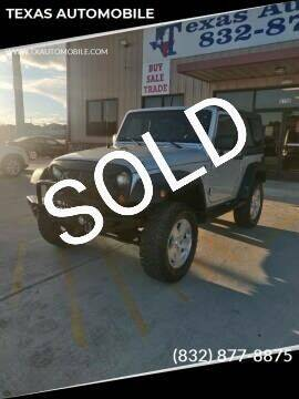 2008 Jeep Wrangler for sale at TEXAS AUTOMOBILE in Houston TX