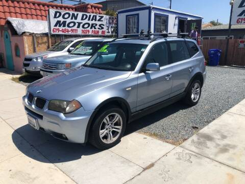 2006 BMW X3 for sale at DON DIAZ MOTORS in San Diego CA