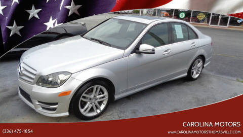 2013 Mercedes-Benz C-Class for sale at CAROLINA MOTORS in Thomasville NC