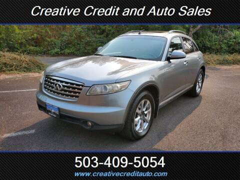 2007 Infiniti FX35 for sale at Creative Credit & Auto Sales in Salem OR