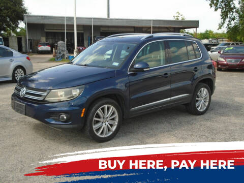 2013 Volkswagen Tiguan for sale at J & F AUTO SALES in Houston TX