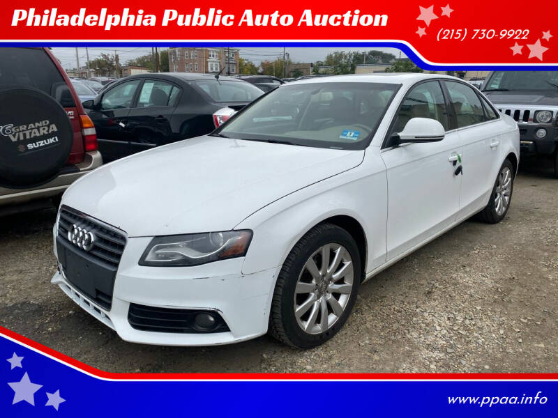 2009 Audi A4 for sale at Philadelphia Public Auto Auction in Philadelphia PA