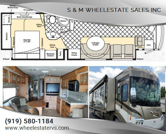 2009 Winnebago Tour 40WD for sale at S & M WHEELESTATE SALES INC - Class A in Princeton NC
