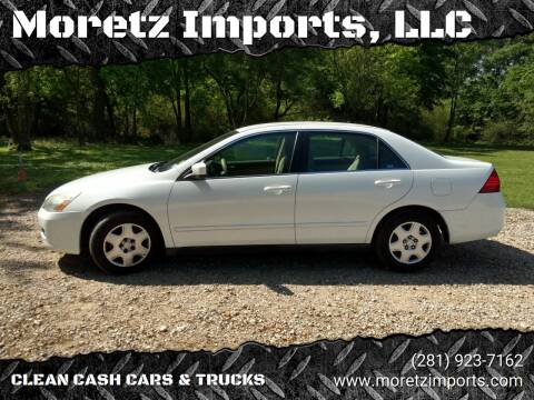 2007 Honda Accord for sale at Moretz Imports, LLC in Spring TX