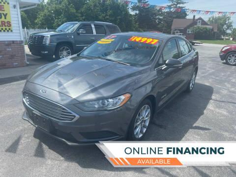 2017 Ford Fusion Hybrid for sale at Excel Auto Sales LLC in Kawkawlin MI