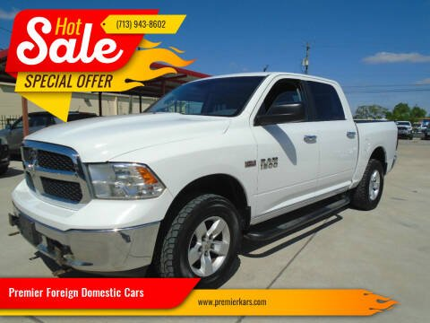 2013 RAM Ram Pickup 1500 for sale at Premier Foreign Domestic Cars in Houston TX
