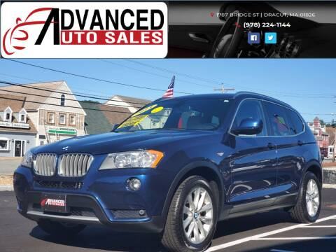 2013 BMW X3 for sale at Advanced Auto Sales in Dracut MA