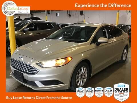 2017 Ford Fusion for sale at Dallas Auto Finance in Dallas TX