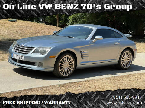 2005 Chrysler Crossfire SRT-6 for sale at On Line VW BENZ 70's Group in Warehouse CA