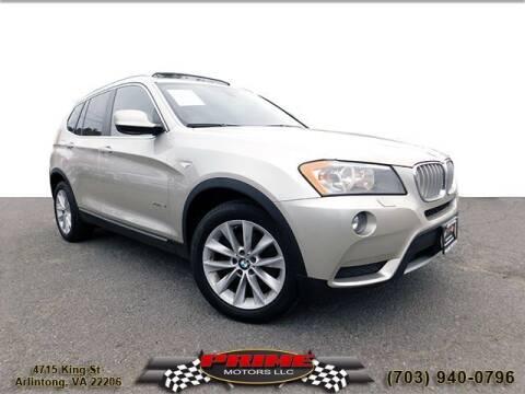 2014 BMW X3 for sale at PRIME MOTORS LLC in Arlington VA