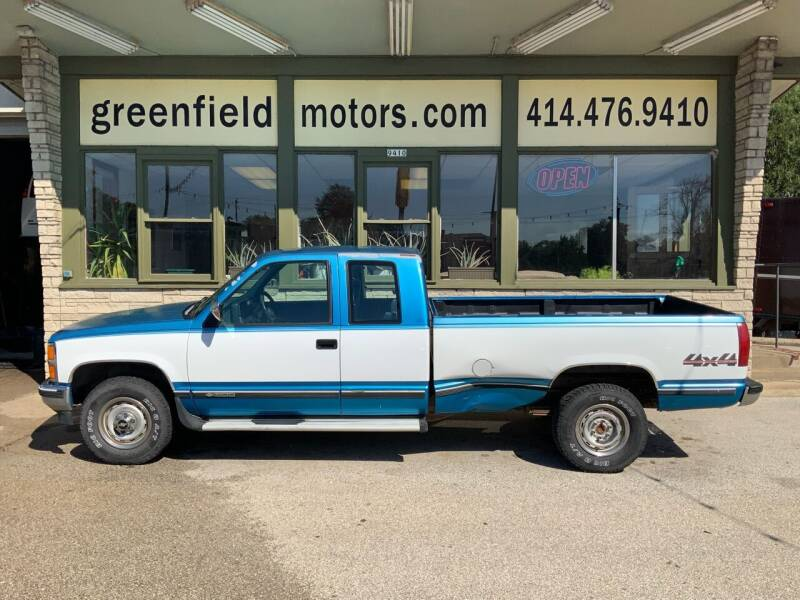 1992 Chevrolet C/K 1500 Series for sale at GREENFIELD MOTORS in Milwaukee WI
