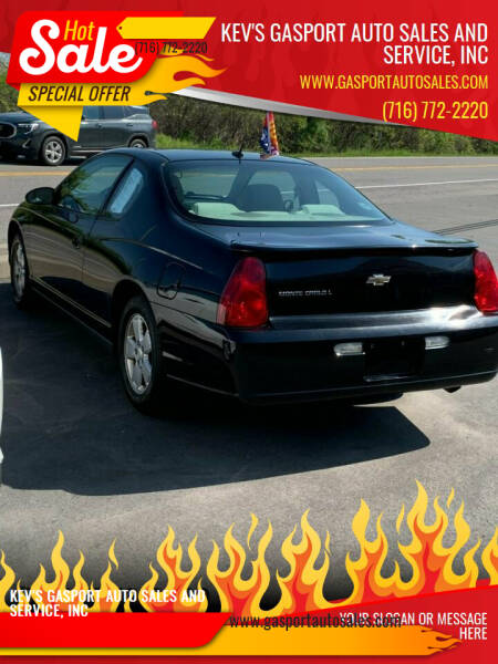 2006 Chevrolet Monte Carlo for sale at KEV'S GASPORT AUTO SALES AND SERVICE, INC in Gasport NY