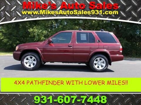 2003 Nissan Pathfinder for sale at Mike's Auto Sales in Shelbyville TN