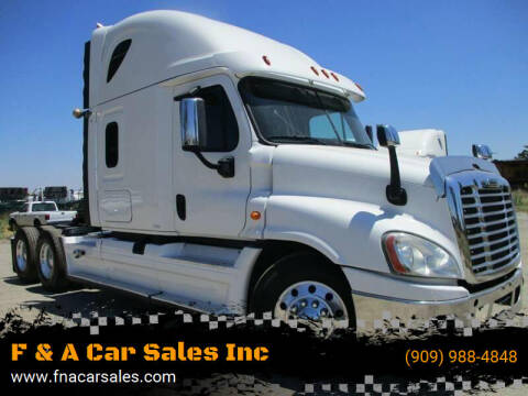 2014 Freightliner Cascadia for sale at F & A Car Sales Inc in Ontario CA