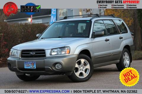 2003 Subaru Forester for sale at Auto Sales Express in Whitman MA