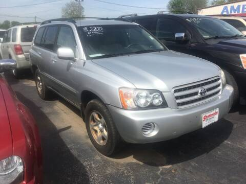 2003 Toyota Highlander for sale at American Motors Inc. - Cahokia in Cahokia IL