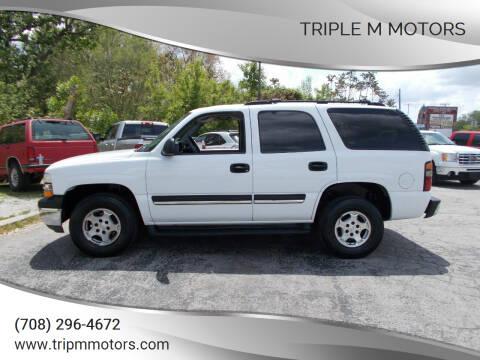 2004 Chevrolet Tahoe for sale at Triple M Motors in Saint John IN