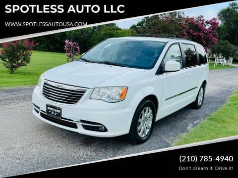 2014 Chrysler Town and Country for sale at SPOTLESS AUTO LLC in San Antonio TX