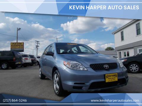 2003 Toyota Matrix for sale at Kevin Harper Auto Sales in Mount Zion IL