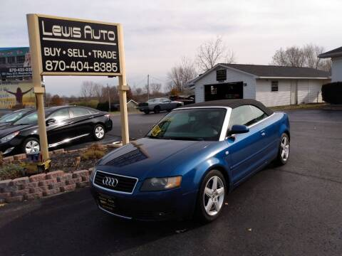 2004 Audi A4 for sale at LEWIS AUTO in Mountain Home AR