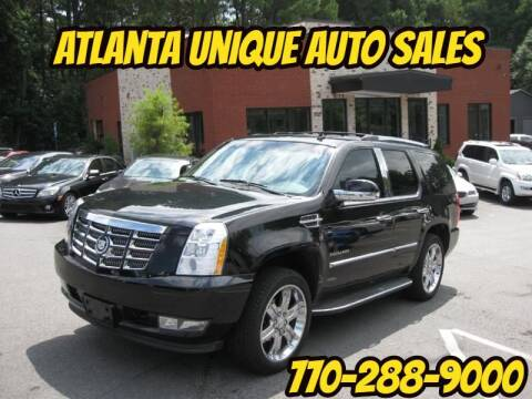 2012 Cadillac Escalade for sale at Atlanta Unique Auto Sales in Norcross GA