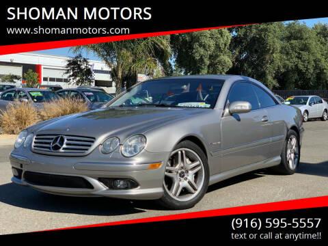 2003 Mercedes-Benz CL-Class for sale at SHOMAN MOTORS in Davis CA