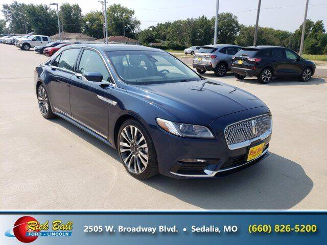 2017 Lincoln Continental for sale at RICK BALL FORD in Sedalia MO