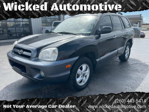 2005 Hyundai Santa Fe for sale at Wicked Automotive in Fort Wayne IN