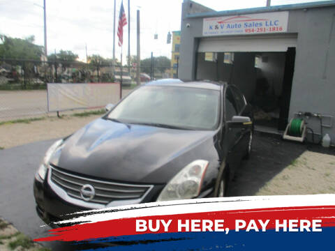 2010 Nissan Altima for sale at K & V AUTO SALES LLC in Hollywood FL