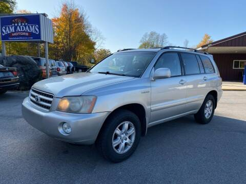 2003 Toyota Highlander for sale at Sam Adams Motors in Cedar Springs MI