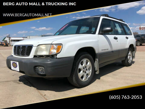 2002 Subaru Forester for sale at BERG AUTO MALL & TRUCKING INC in Beresford SD