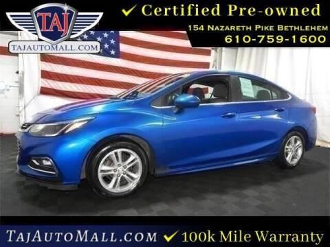 2017 Chevrolet Cruze for sale at Taj Auto Mall in Bethlehem PA