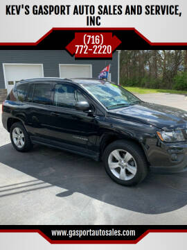 2016 Jeep Compass for sale at KEV'S GASPORT AUTO SALES AND SERVICE, INC in Gasport NY