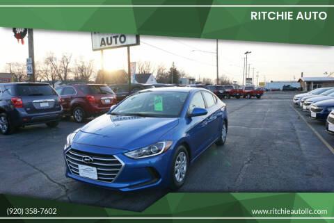 2018 Hyundai Elantra for sale at Ritchie Auto in Appleton WI