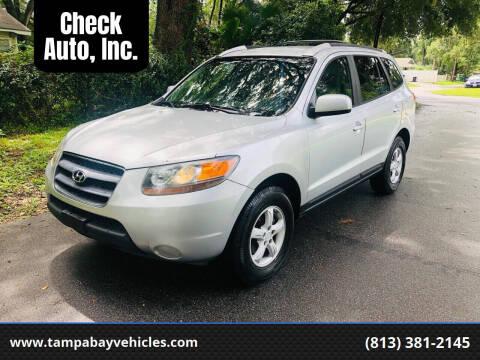 2007 Hyundai Santa Fe for sale at CHECK  AUTO INC. in Tampa FL