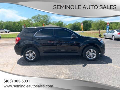 2016 Chevrolet Equinox for sale at Seminole Auto Sales in Seminole OK