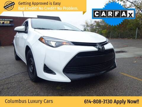 2018 Toyota Corolla for sale at Columbus Luxury Cars in Columbus OH