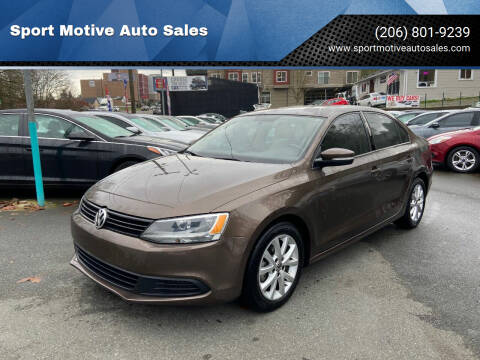 2012 Volkswagen Jetta for sale at Sport Motive Auto Sales in Seattle WA