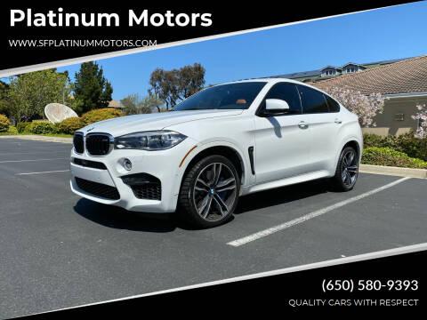 2016 BMW X6 M for sale at Platinum Motors in San Bruno CA