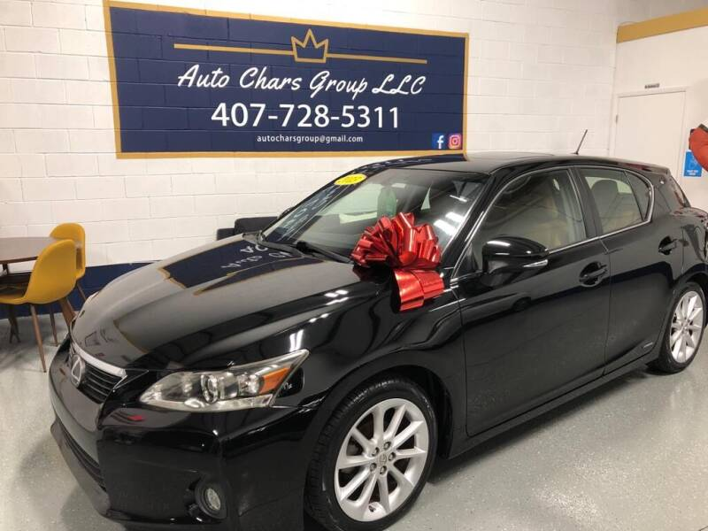 2013 Lexus CT 200h for sale at Auto Chars Group LLC in Orlando FL