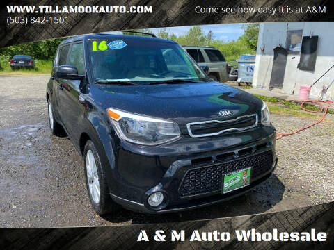 2016 Kia Soul for sale at A & M Auto Wholesale in Tillamook OR