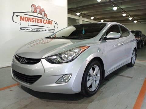 2013 Hyundai Elantra for sale at Monster Cars in Pompano Beach FL
