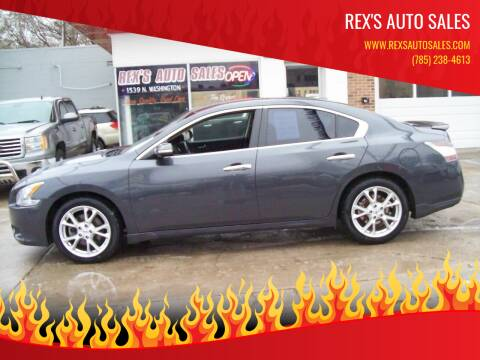 2012 Nissan Maxima for sale at Rex's Auto Sales in Junction City KS
