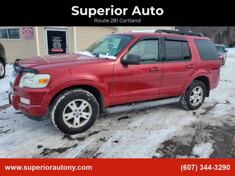 2010 Ford Explorer for sale at Superior Auto in Cortland NY