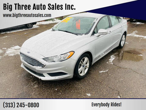 2018 Ford Fusion for sale at Big Three Auto Sales Inc. in Detroit MI