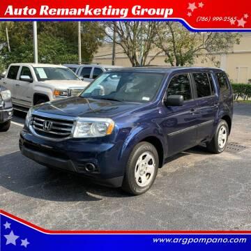 2015 Honda Pilot for sale at Auto Remarketing Group in Pompano Beach FL