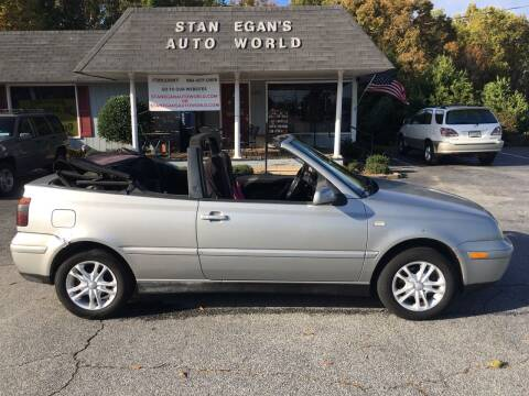 2000 Volkswagen Cabrio for sale at STAN EGAN'S AUTO WORLD, INC. in Greer SC