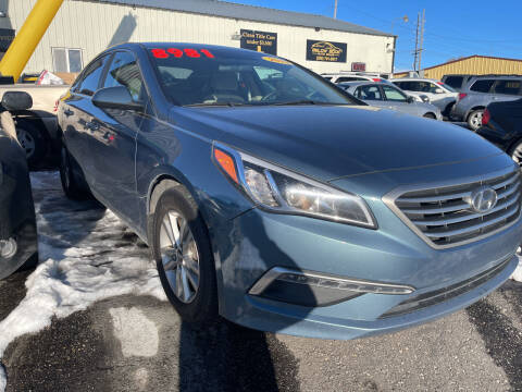 2015 Hyundai Sonata for sale at BELOW BOOK AUTO SALES in Idaho Falls ID
