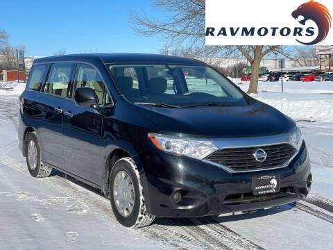 2015 Nissan Quest for sale at RAVMOTORS in Burnsville MN
